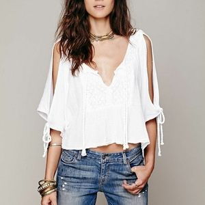 Free People Jen's Pirate Booty boxy open top S